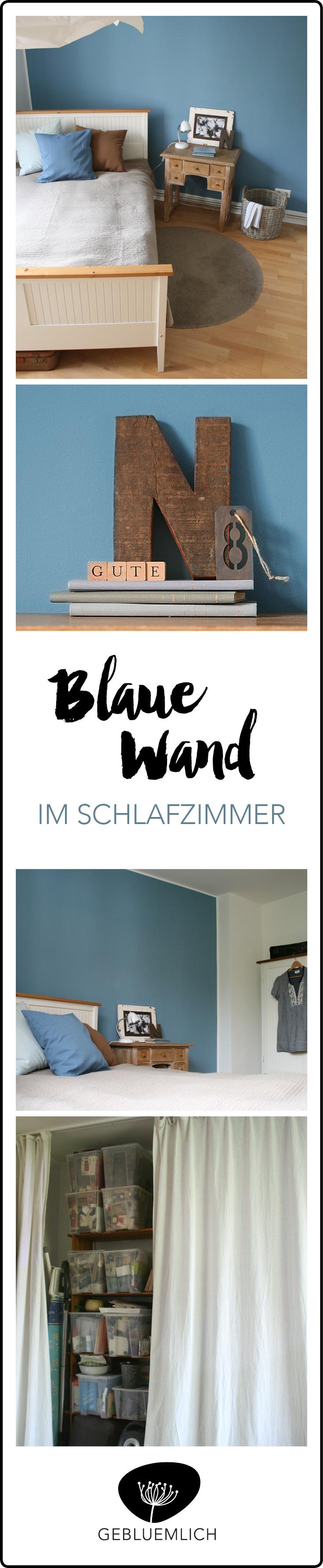 Cool down - blaue Wand im Schlafzimmer