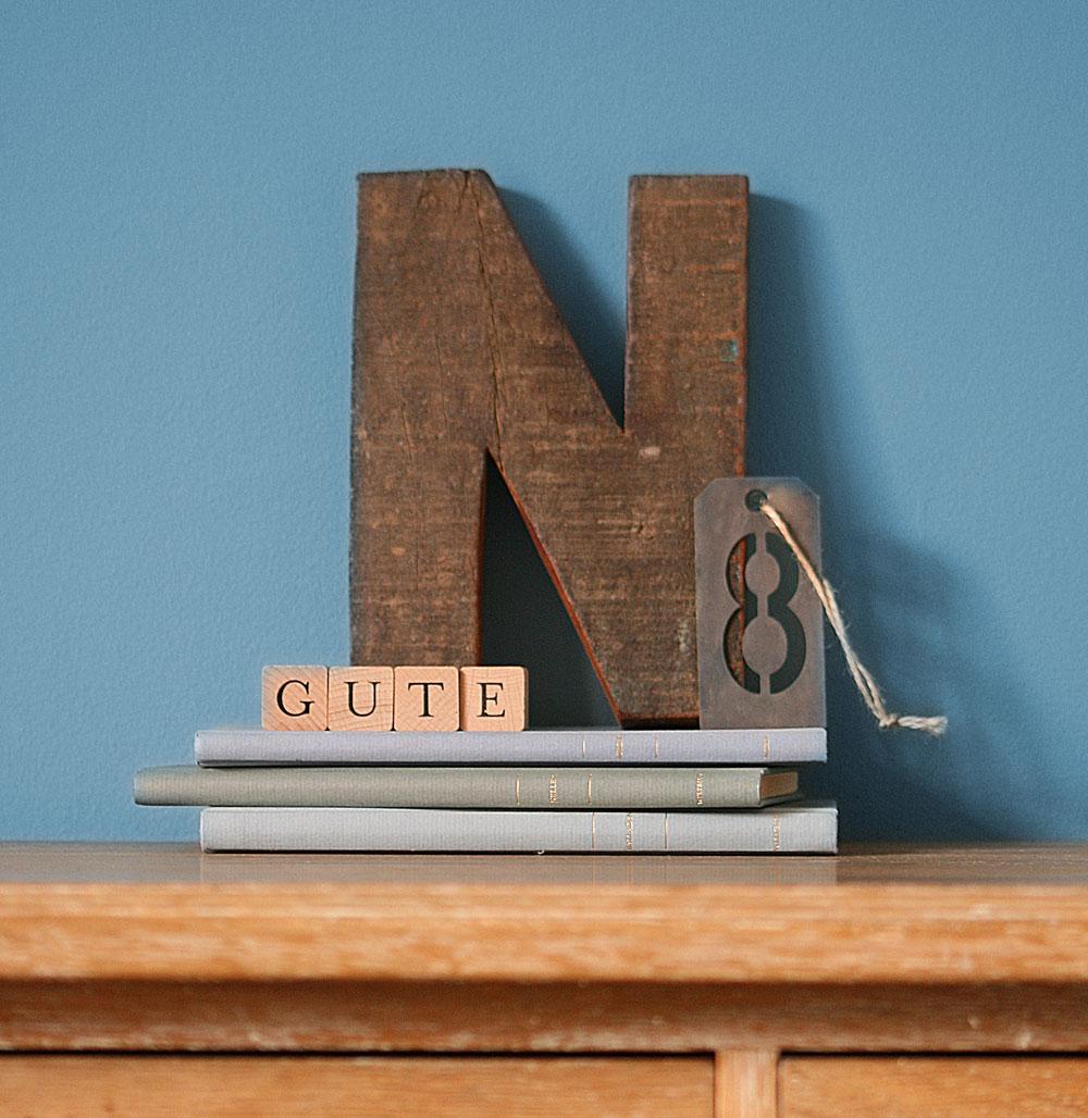 Gute N8 in Buchstaben dekoriert