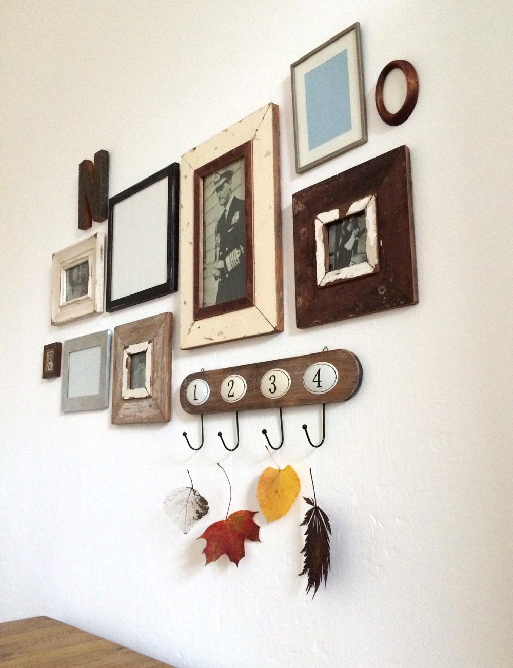 Bilderrahmen-Anordnung mit Herbstlaub