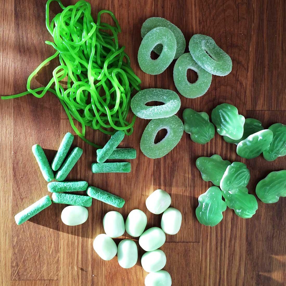 Bunte Tüte in grün