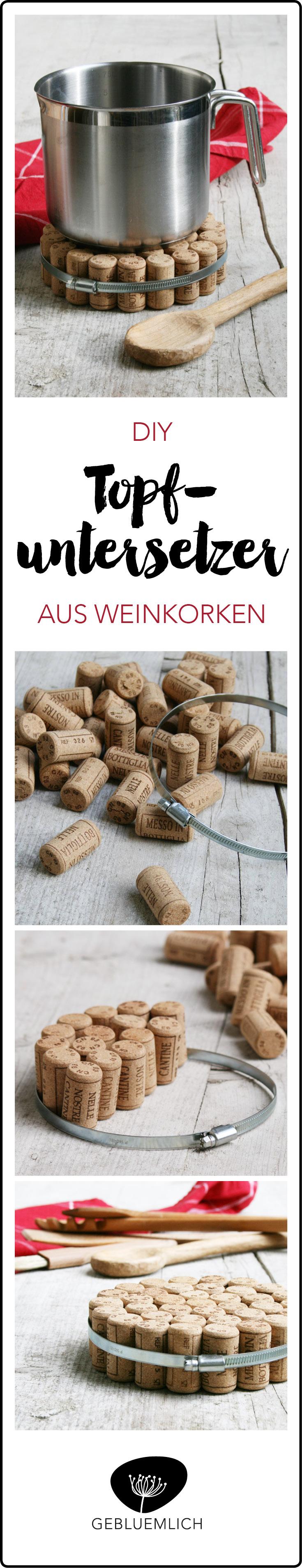 DIY Topfuntersetzer aus Weinkorken
