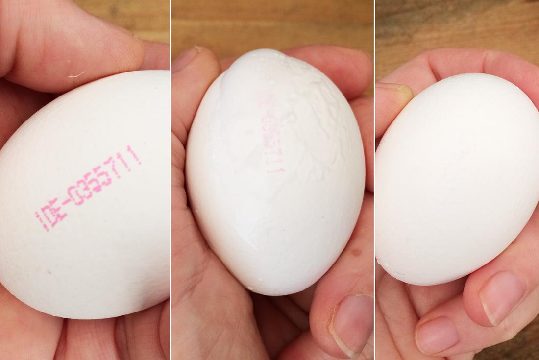 Wie bekomme ich den Stempel vom Ei?