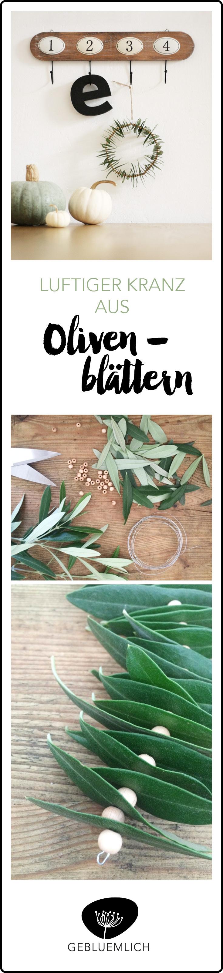 Pinterest Kranz aus Olivenblättern