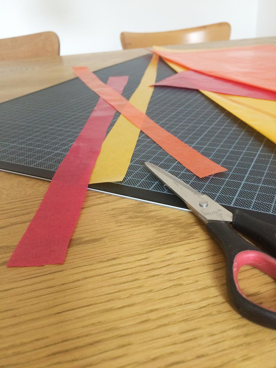 Drachenpapier-Streifen