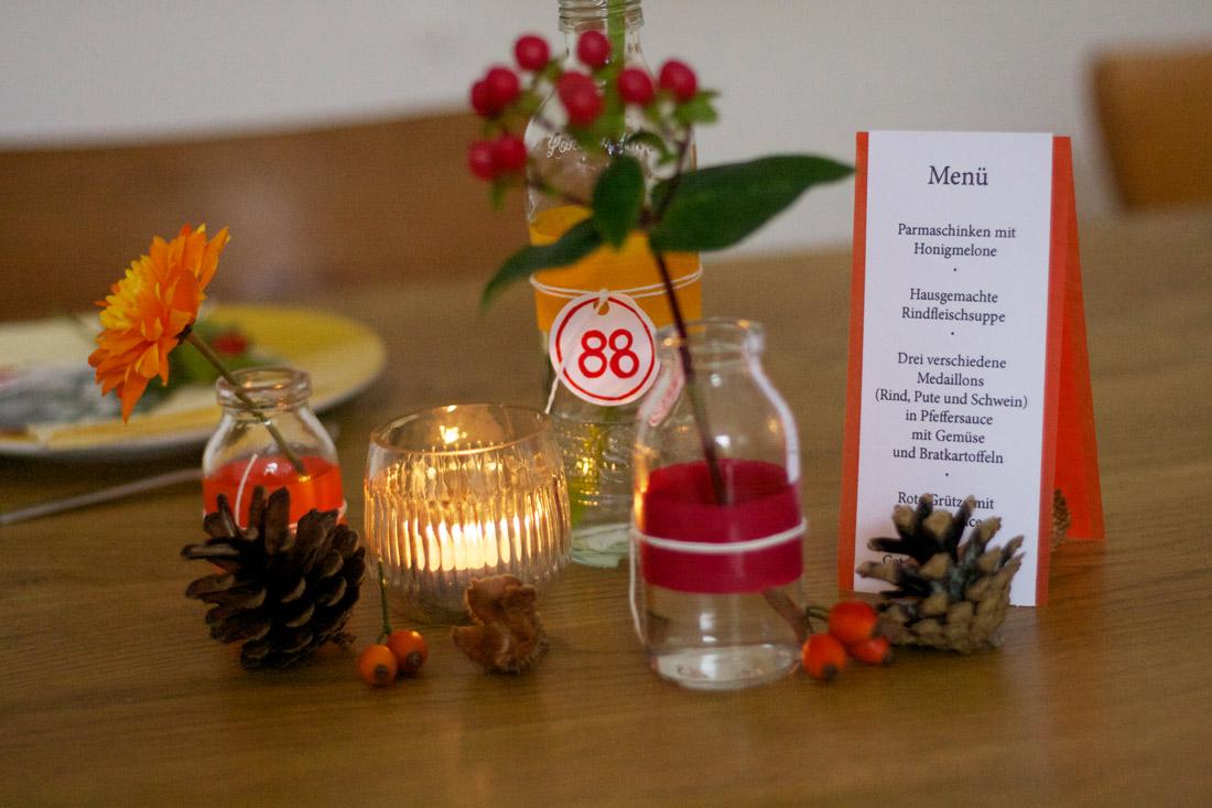 schnelle Tischdeko zum 88. Geburtstag