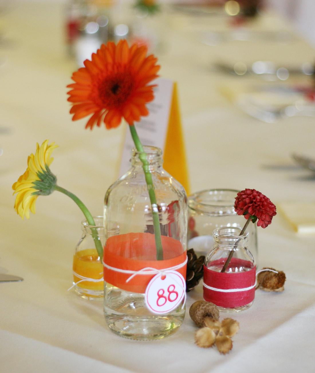 Tischdeko in Gaststätte