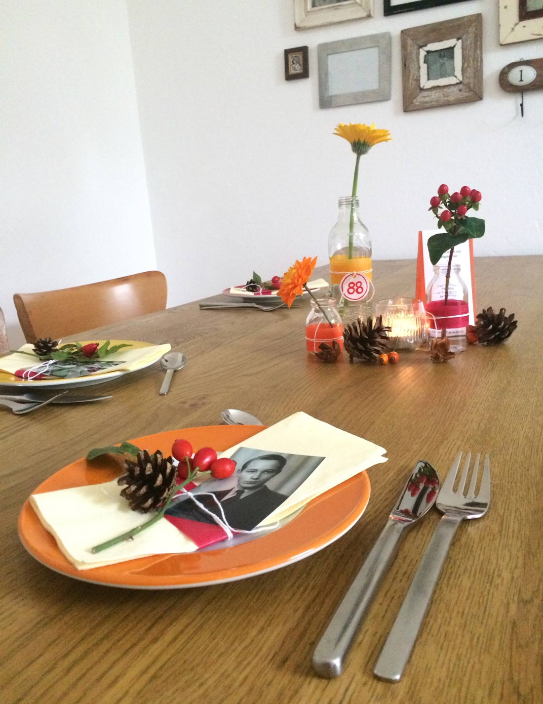 Probe-Tischdeko
