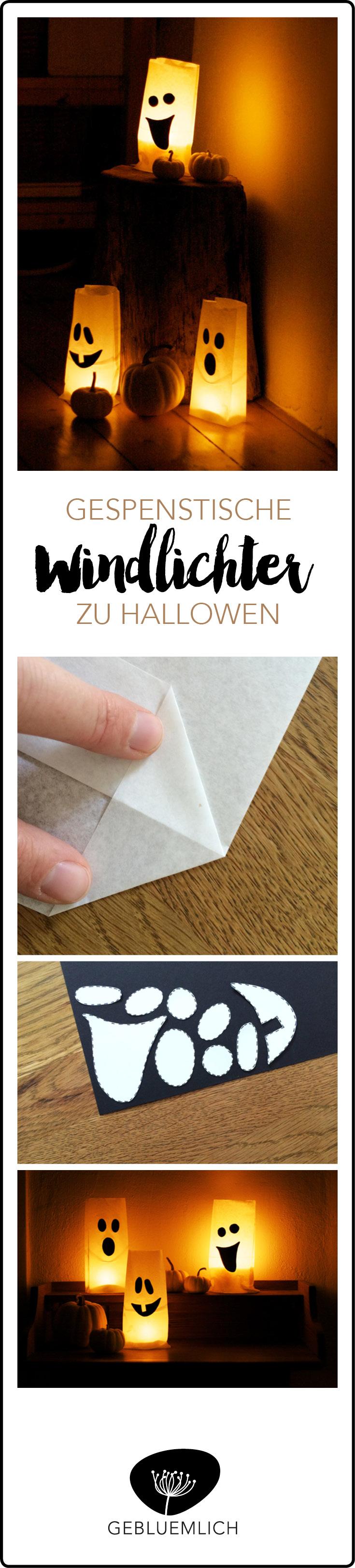 Pinterest Gespenstisches Windlicht zu Halloween