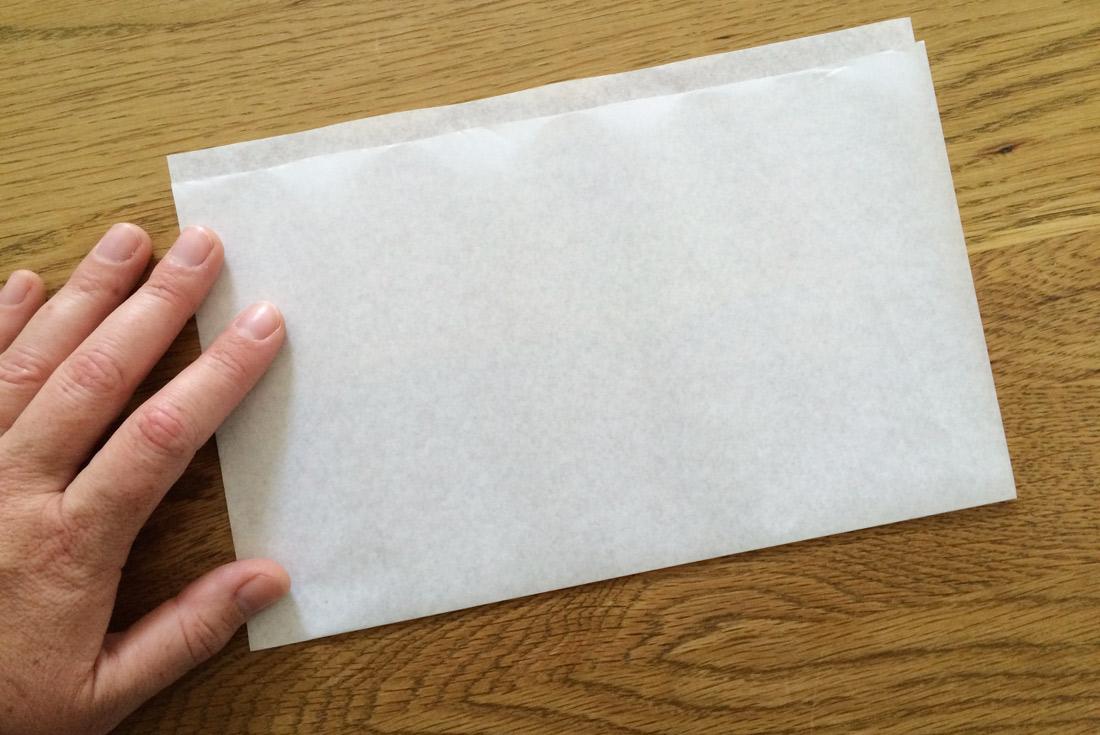Butterbrotpapier falten