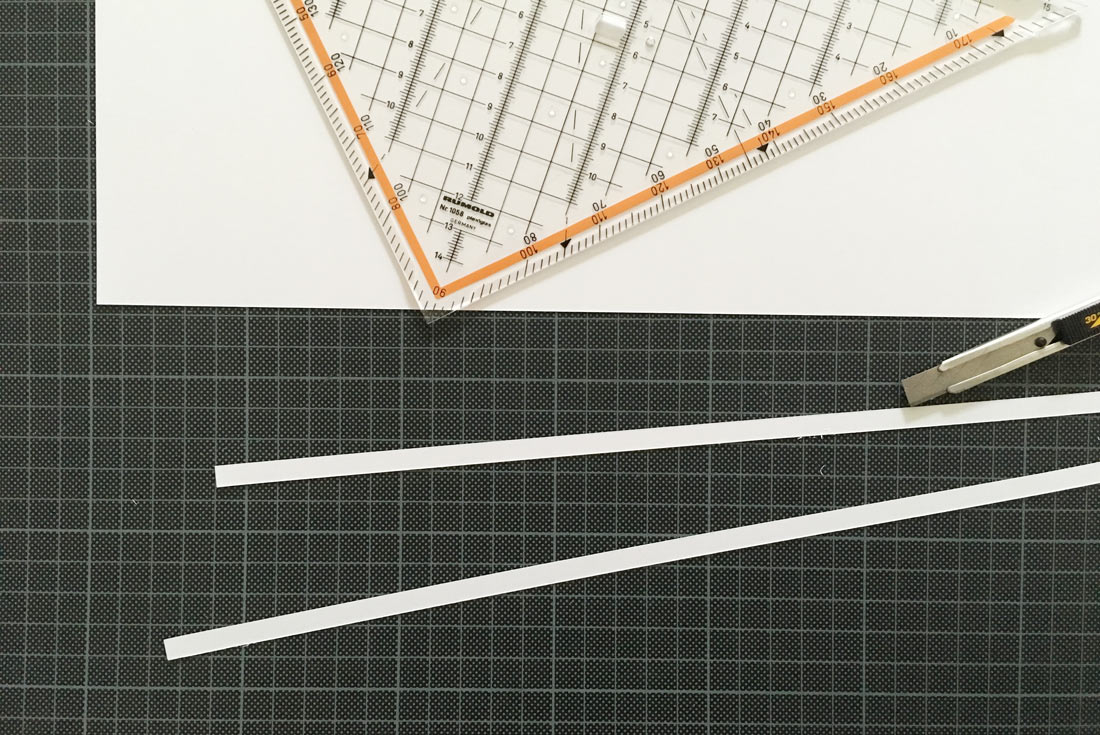 Zwei Papierstreifen