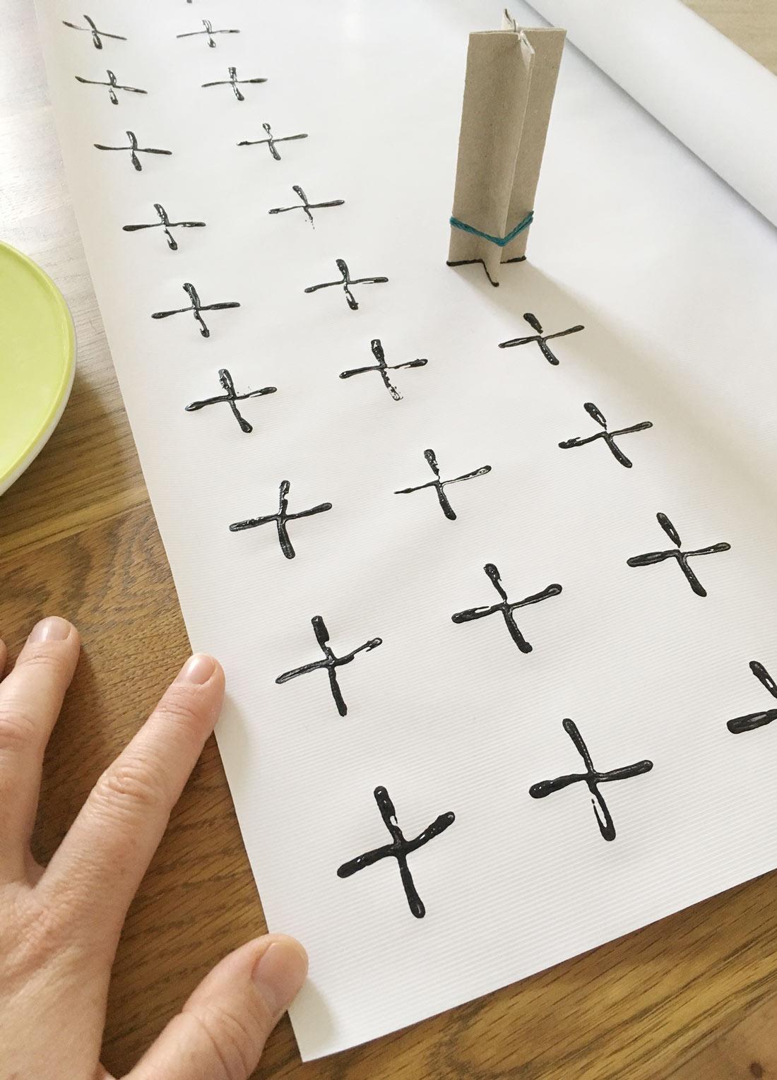 Kreuz stempeln