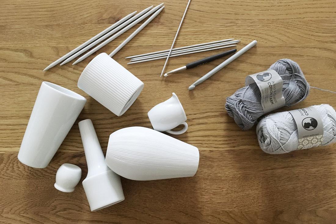 Material für Stulpen