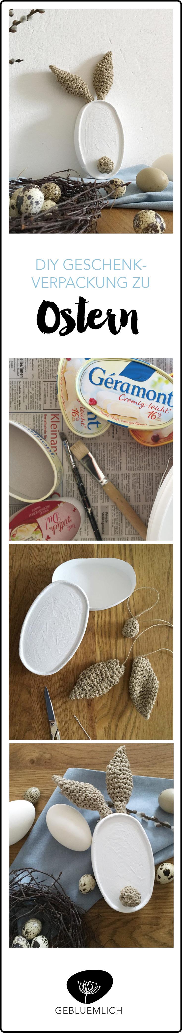 DIY Geschenkverpackung zu Ostern aus einer Camenbertverpackung