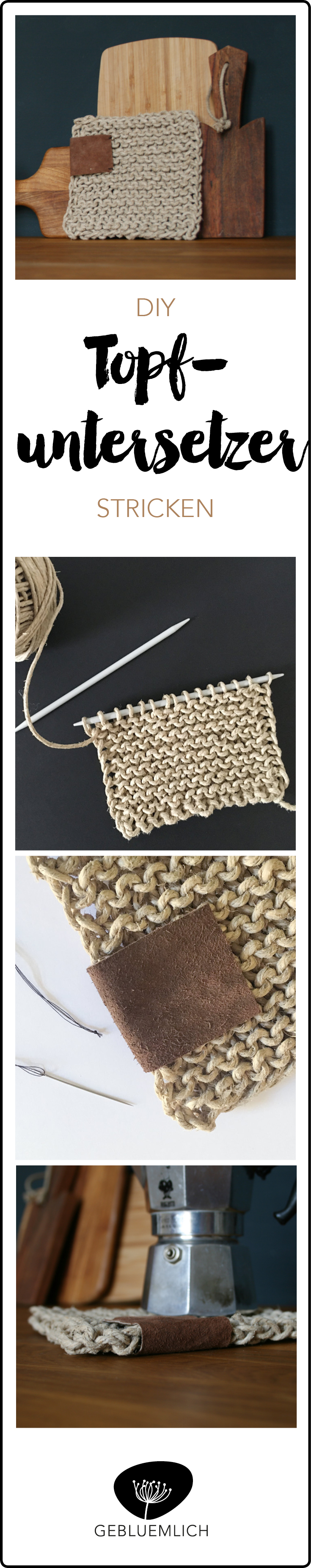 Pinterest DIY Topfuntersetzer stricken