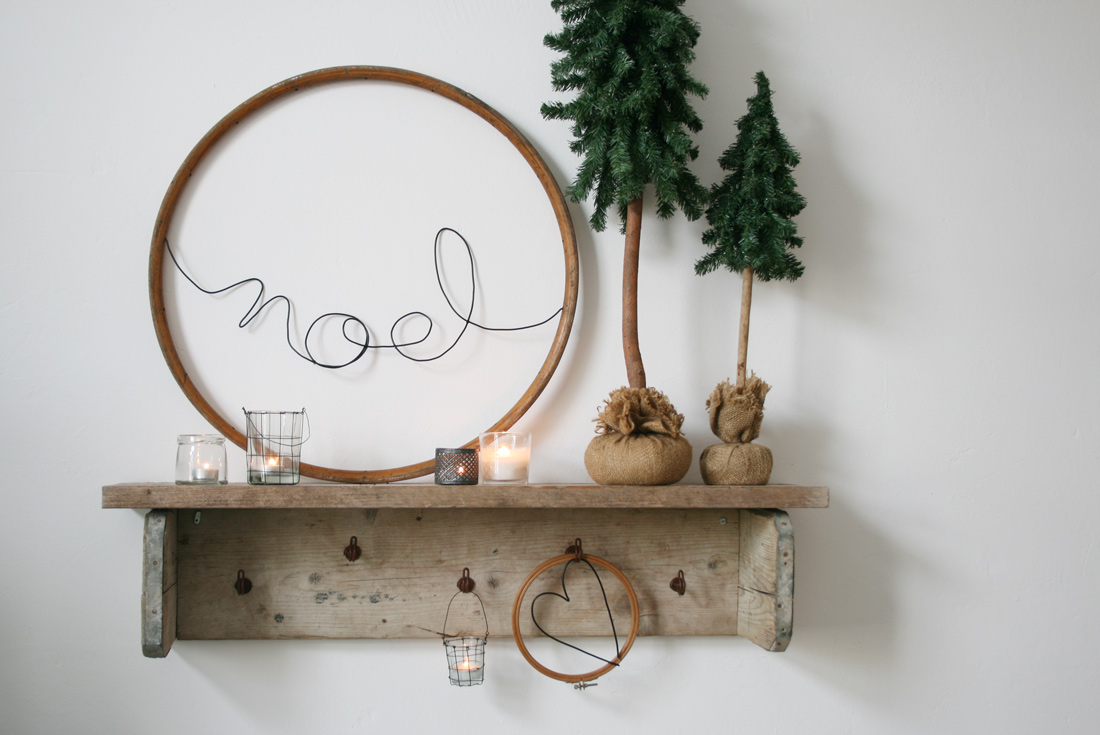 Holzreifen mit Schriftzug