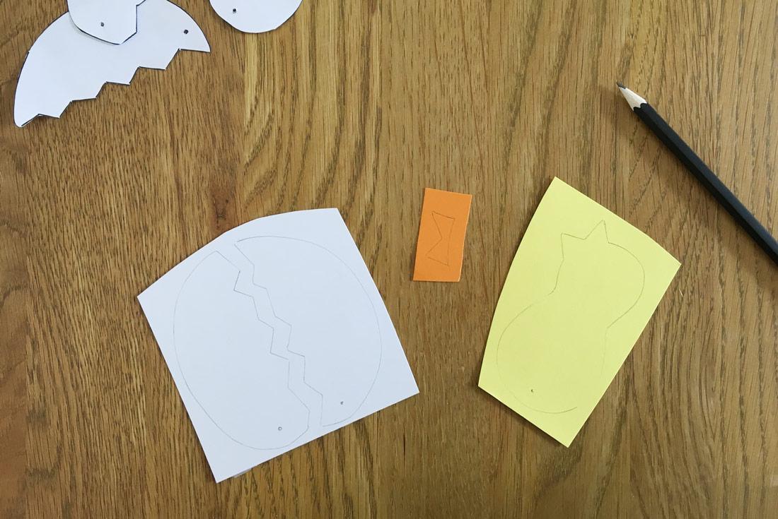 Schablonen auf Tonkarton übertragen