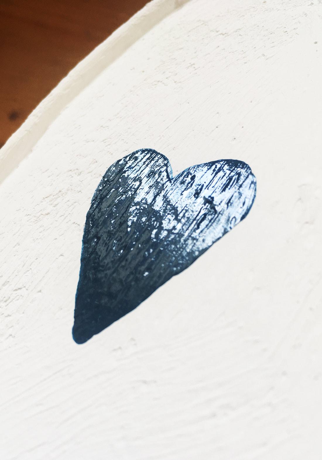 Herz aus Nagellack