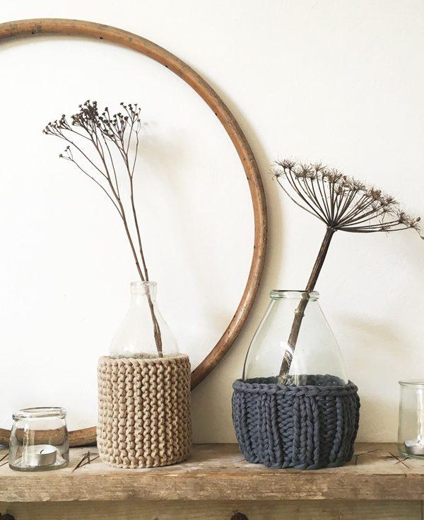 Winterstulpen für die Vasen