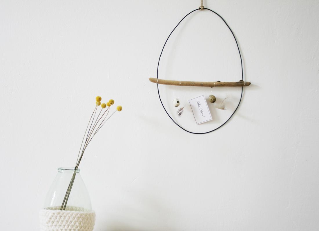 Minimalistische Osterdeko mit Naturmaterialien