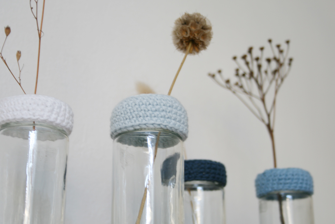 DIY-Idee für stylische Vasen aus Altglas