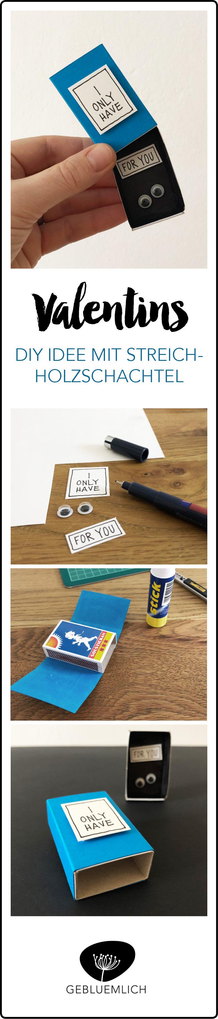 Pin_Valentins DIY Botschaft in Streichholzschachtel